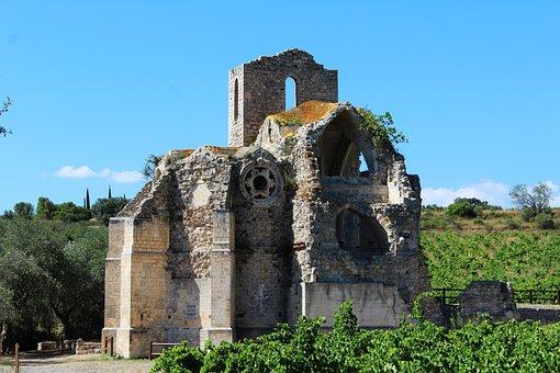 Church, Cathar Church, Ruin, Pierre