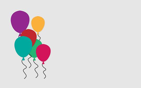 Luftballons, Feier, Bunte, Party-Ballons