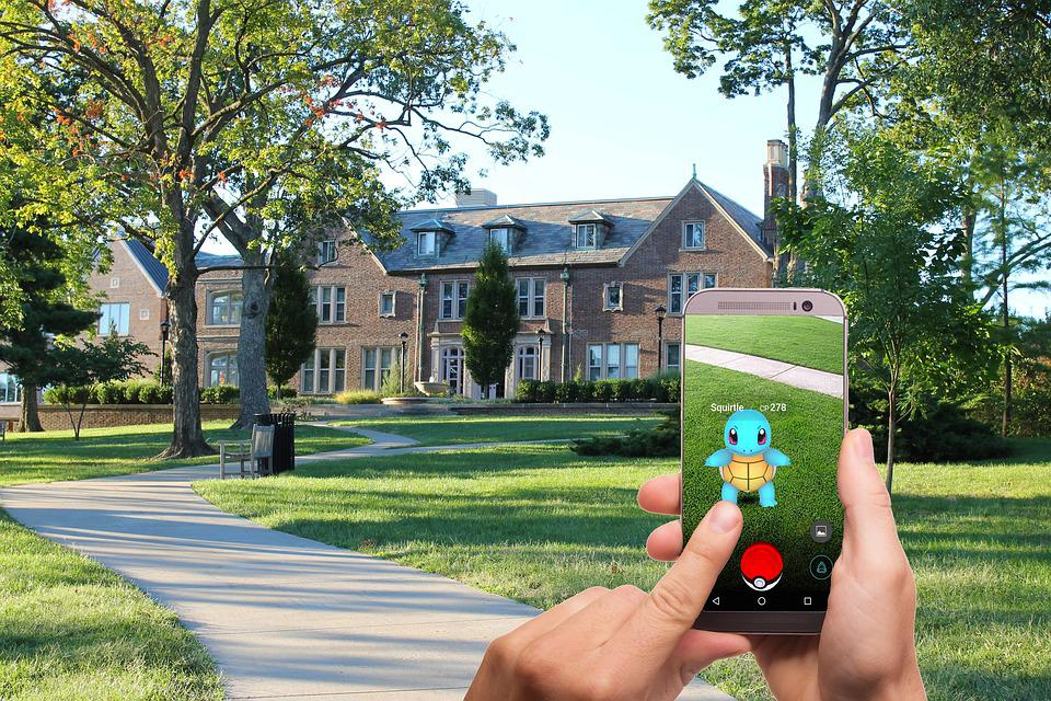 Pokemon Go, Pokemon, Street, Lawn, House, Trees, Game