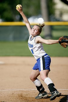 Softball, Pitcher, Player, Action, Pitch