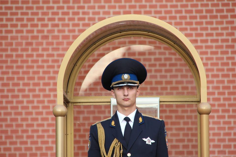 Moscou, Kremlin, Garde, Agent De Sécurité