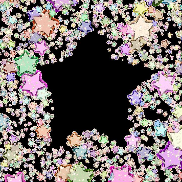 star frame glitter confetti celestial shiny