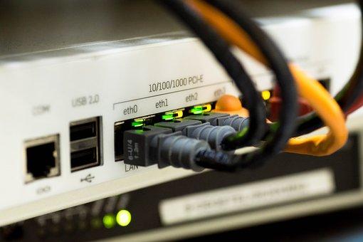 Rede, Cabo, Ethernet, Computador