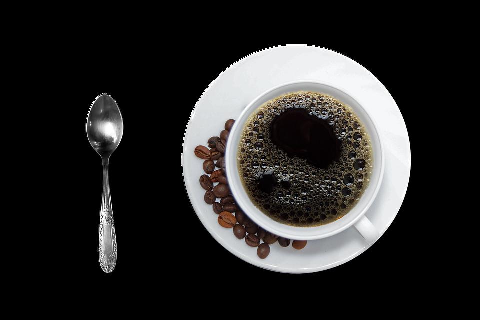 Photo gratuite caf tasse et soucoupe caf noir image for Credence en verre transparent cuisine