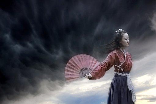 China, Antiquity, Girls, Tone Exercises