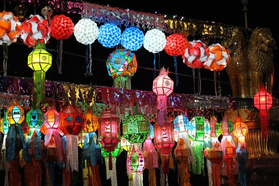 free photo lanterns festival chiang mai free image on. Black Bedroom Furniture Sets. Home Design Ideas