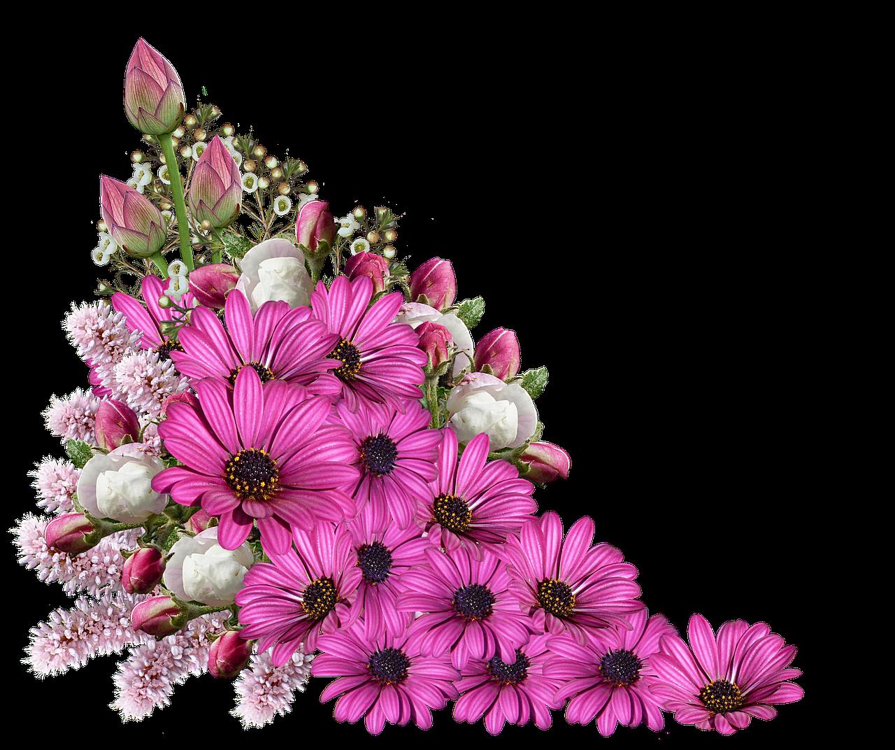 Букет цветов пнг