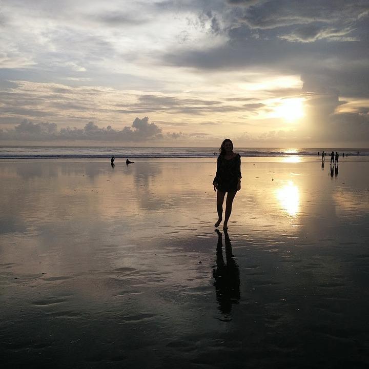 Beautiful Woman Face Over Beach Sunset Stock Image: Girl Horizon Beach · Free Photo On Pixabay
