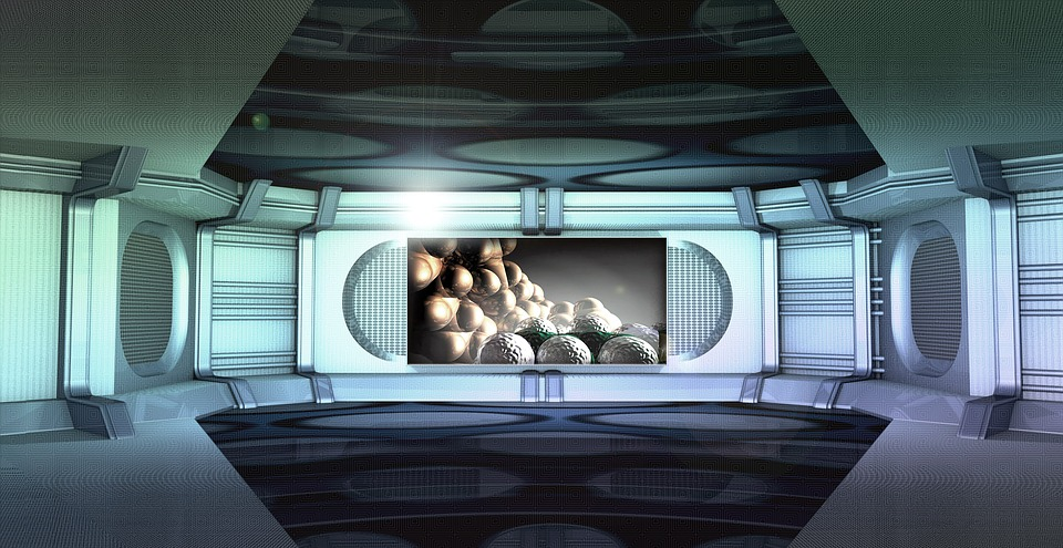 Free Illustration Utopian Spaceship Interior Free