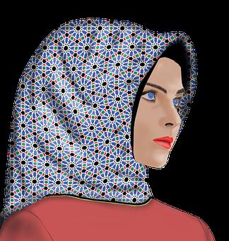 Damen, Mädchen, Hijab, Mode, Islam
