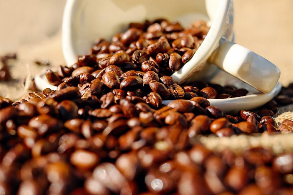 Caffè, Tazza Di Caffè, Porcellana, Chicchi Di Caffè