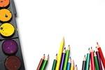 pencils, rainbow