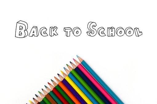 Back To School, Pencils, Rainbow, Art