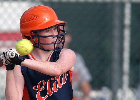 垒球, 面糊, 女性, 球员, 游戏, 竞争, 沥青, 蝙蝠, 击球手, 运动员