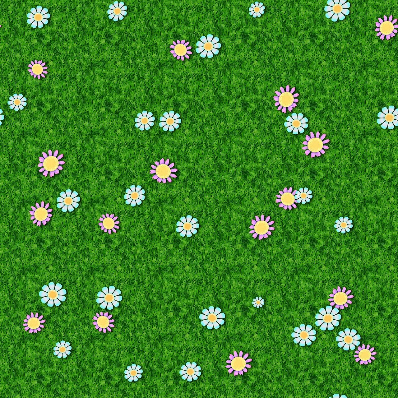 картинки газон с цветами зрелищные