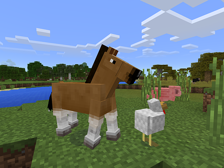 Minecraft, Game, Horse, Scenery