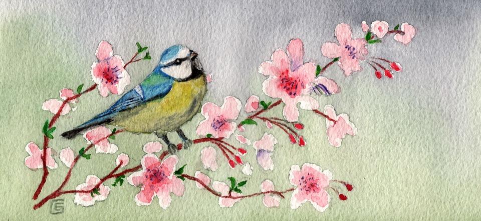 Peindre un hortensia laquarelle LATELIER EN BALADE