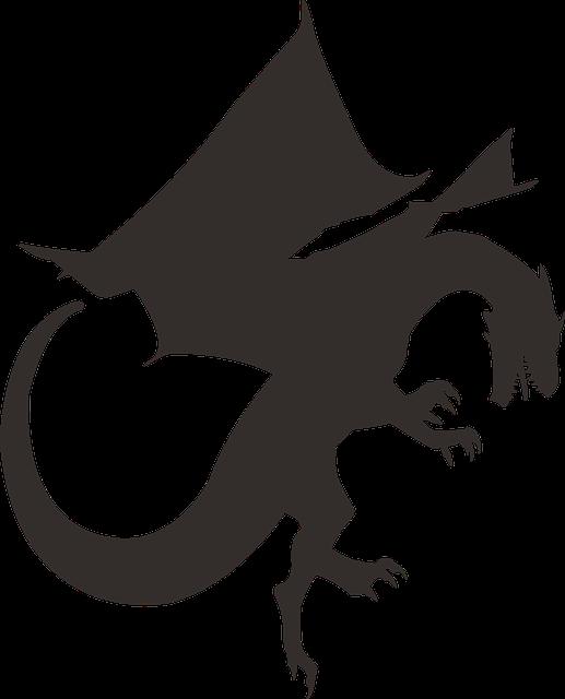 Free Vector Graphic Dragon Silhouette Black Free