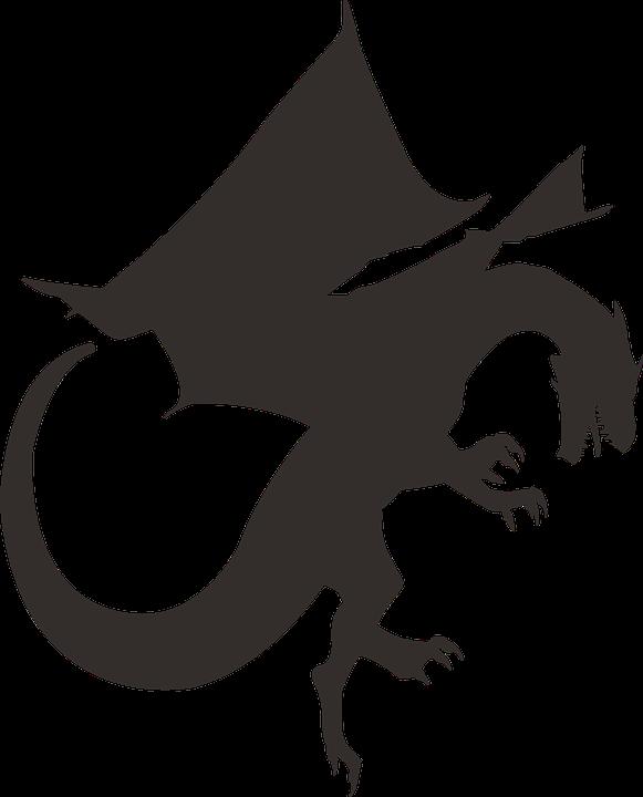 kostenlose vektorgrafik drache silhouette schwarz kostenloses bild auf pixabay 1578289. Black Bedroom Furniture Sets. Home Design Ideas