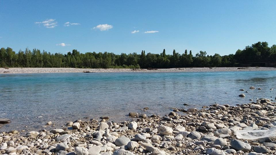 Fluss Tagliamento, Cimano, Wasser, Stein, Landschaft