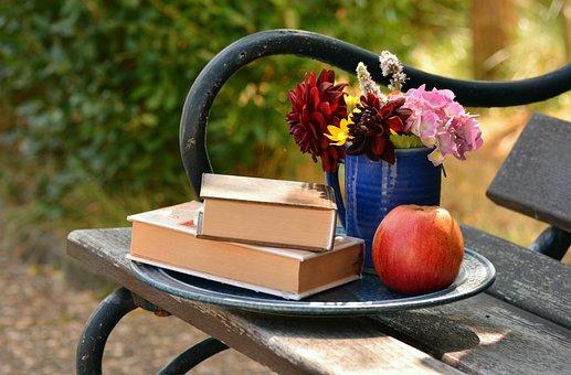 Books, Read, Bouquet, Relax, Bank