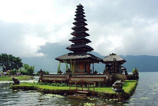 Indonesia Bali Danu Ulun Lago Bratan Templ