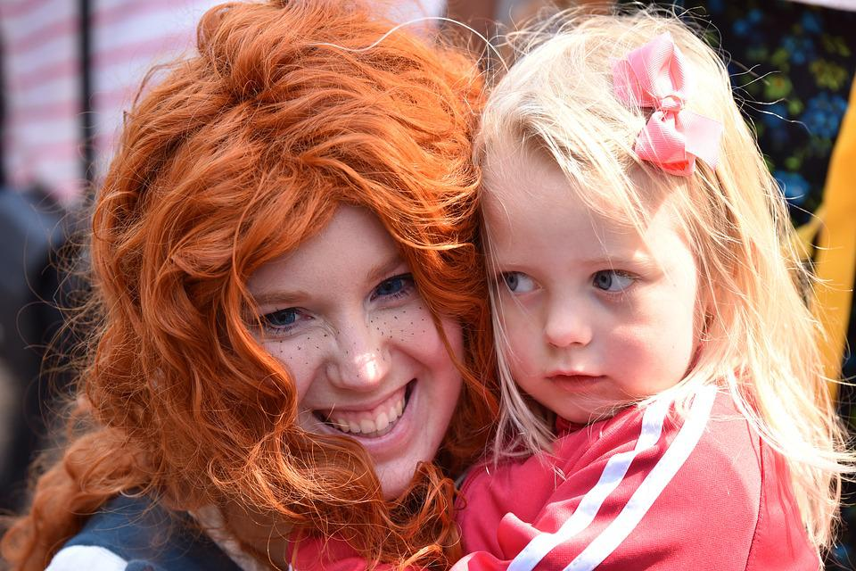 Children, Face, Redhead, Freckles, Security, Barrette