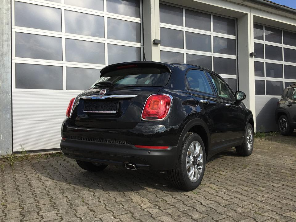 free photo: fiat, 500x, jeep, crossover, black - free image on