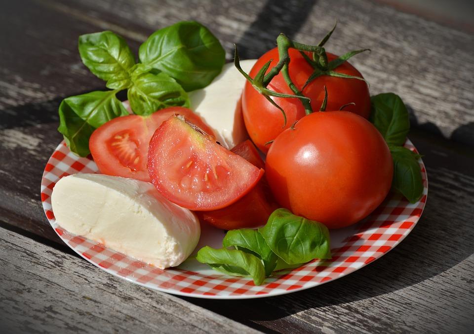 Pomodori, Caprese, Mozzarella, Basilico