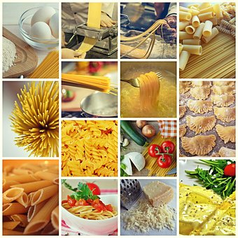 Collage, Noodles, Pasta, Food, Eat