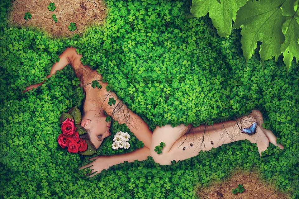 Donna, Natura, Ambiente, Giovani, Femmina, Faccia