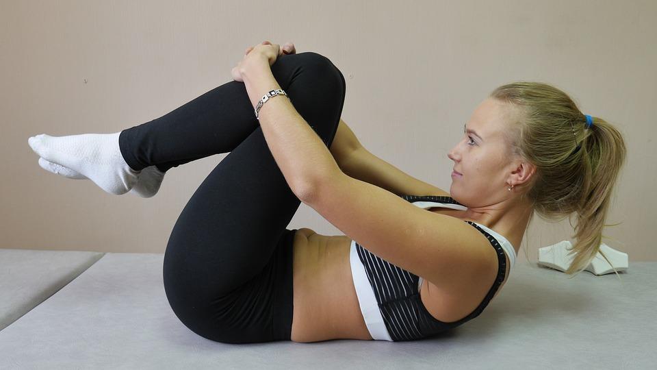 Oefening, Wervelkolom, Atleet, Vrouw, Yoga, Pilates