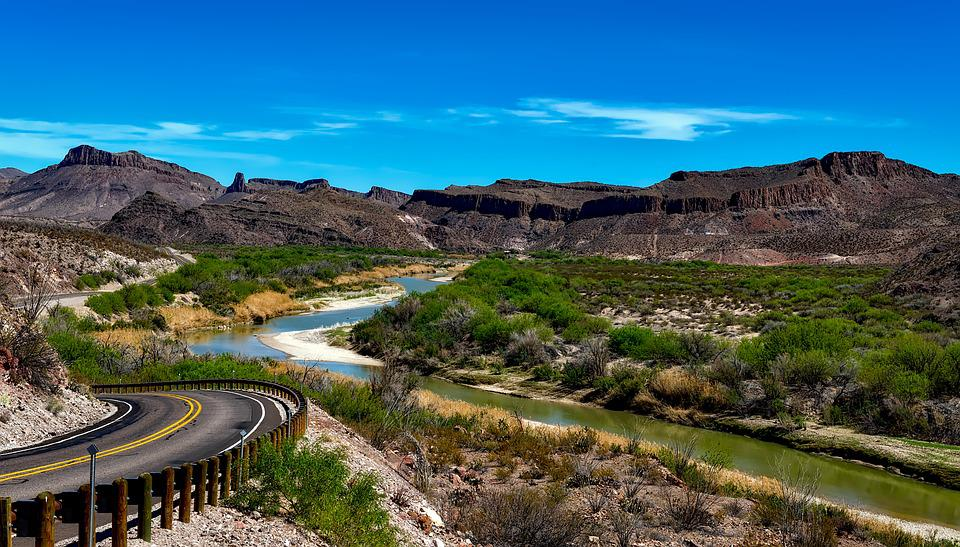 Rzeki Rio Grande, Texas, Big Bend National Park