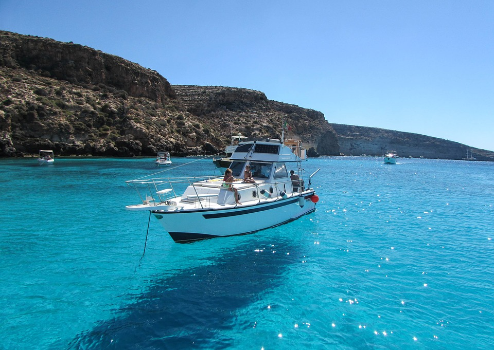 Lampedusa, Sea, Boat, Travel, Summer, Ocean, Pelagie