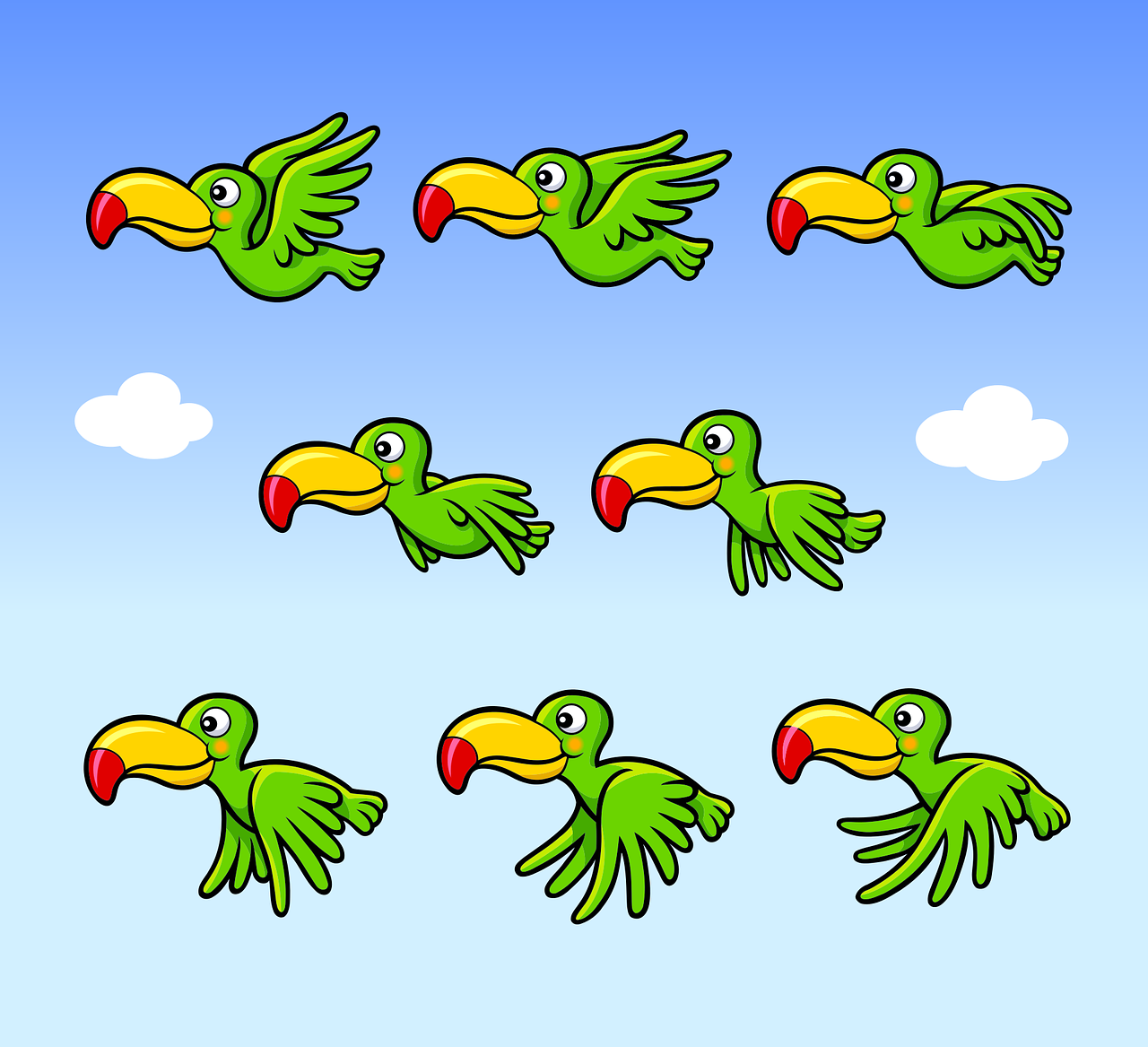 Game Asset Bird Free Vector Graphic On Pixabay