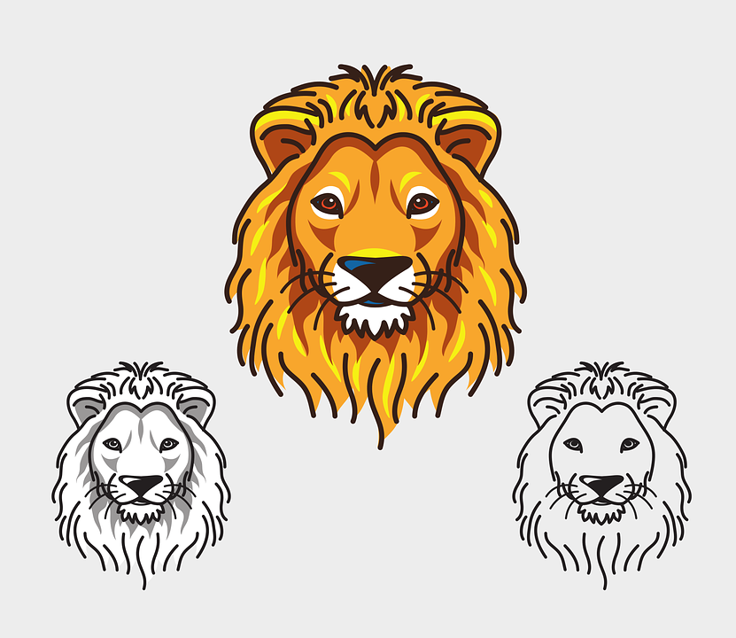 Animated lion face