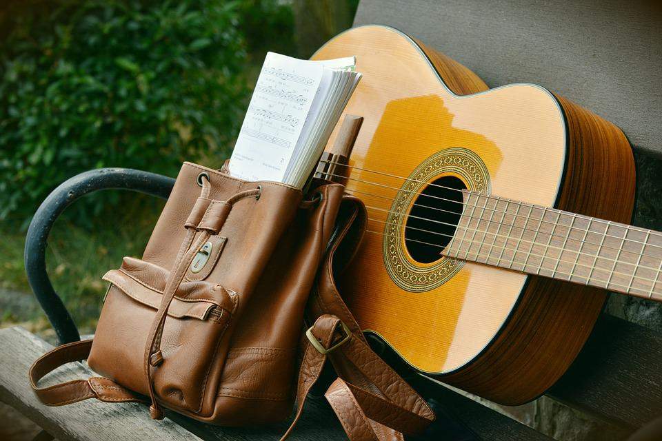Guitar, Backpack, Leisure, Song Book, Music