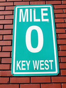 Mile Marker Zero, Sign, Key West