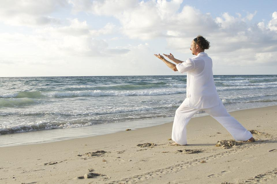 太極拳気, アクティビティ, 体, フィットネス, 瞑想, 練習, トレーニング, 医学, 大人, 人, 男