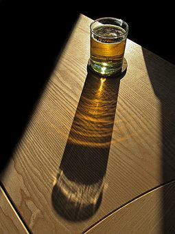 Beer, Glass, Shadow, Refreshment, Drink