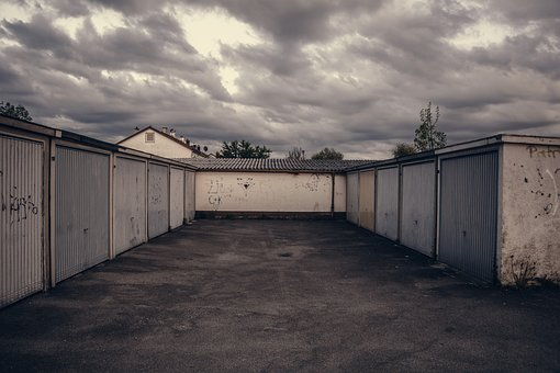 Lot, Garage, Parking, Gritty