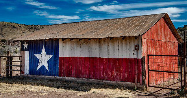 Texas, Barn, Metal, Ranch, Farm