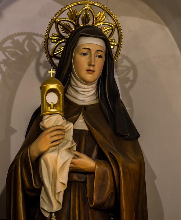 Pyhimys Klaara Assisilainen, Katolilainen, Pyhimys