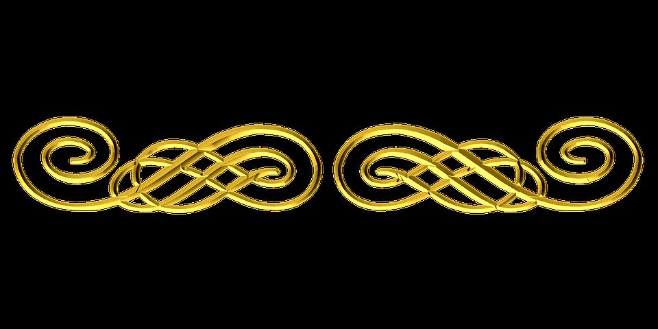 Free Illustration Gold Ornamental Flourish Border