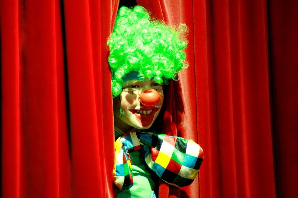 Clown, Close Up, Entertainment, Face, Person, Mimic