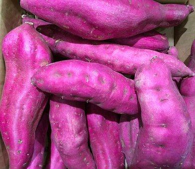 芋, 薩摩芋, 紫, 西友, リビン, スーパーマーケット, 青果, 売り場