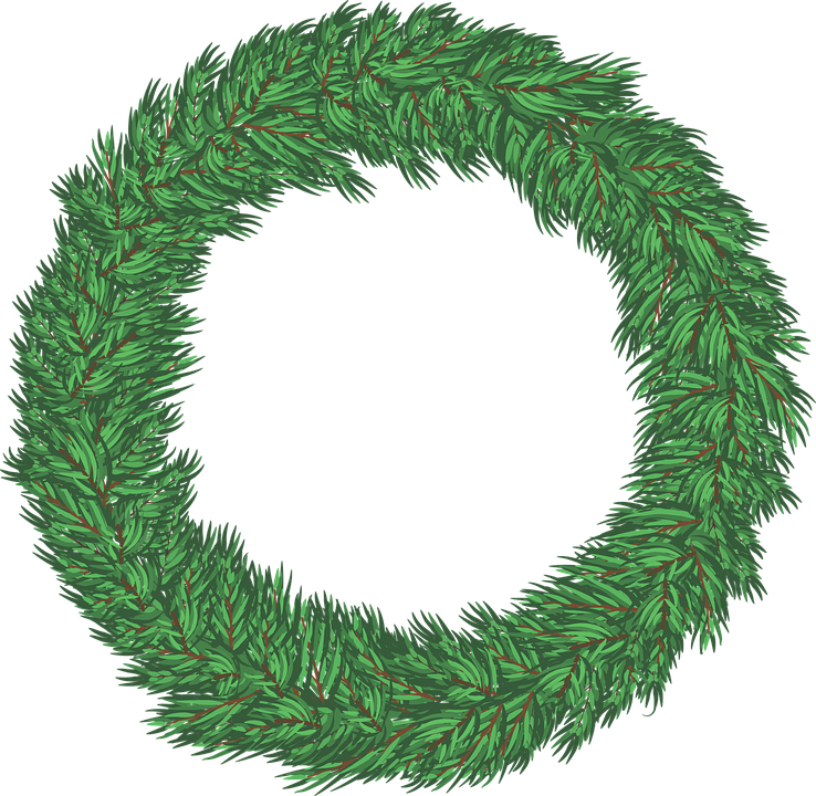Free Vector Graphic Wreath Christmas Holiday Green