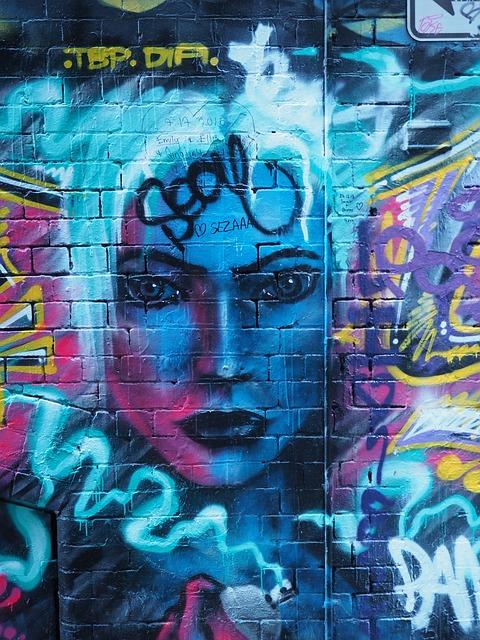 free photo  graffiti  melbourne  face  laneway