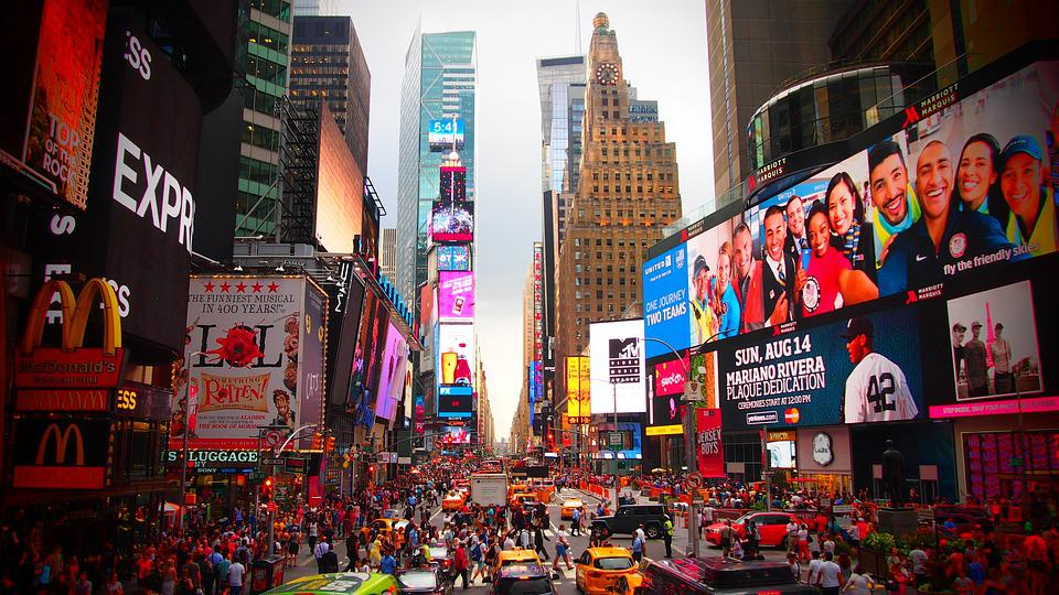 New York, Sightseeing, Stau, Time Square
