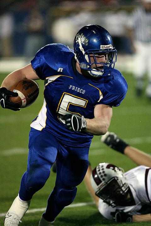 American Football Running Back Player Ball Carrier